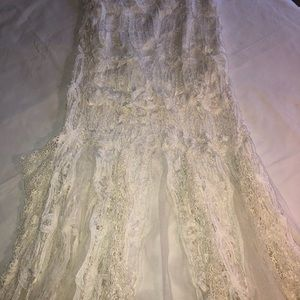Free people lace strapless dress